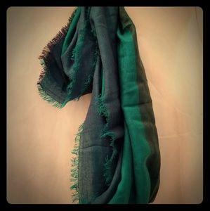 Blue and Green Scarve